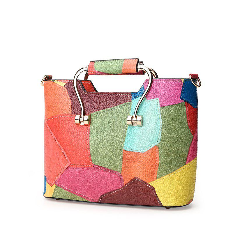 Color Mosaic Iron Hand Small Package Bags - DAISY VERTICAL