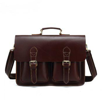 AUGUR Men Genuine Leather Messenger Shoulder Business