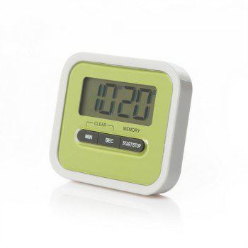 Lazy Person Kitchen Cooking Electronic Timer Experiment Reminder - GREEN SIZE:7.4 X 6.4 X 2.4CM