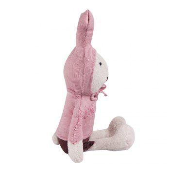 30CM Long Sleeve Sweater Plush Rabbits Doll -  WHITE