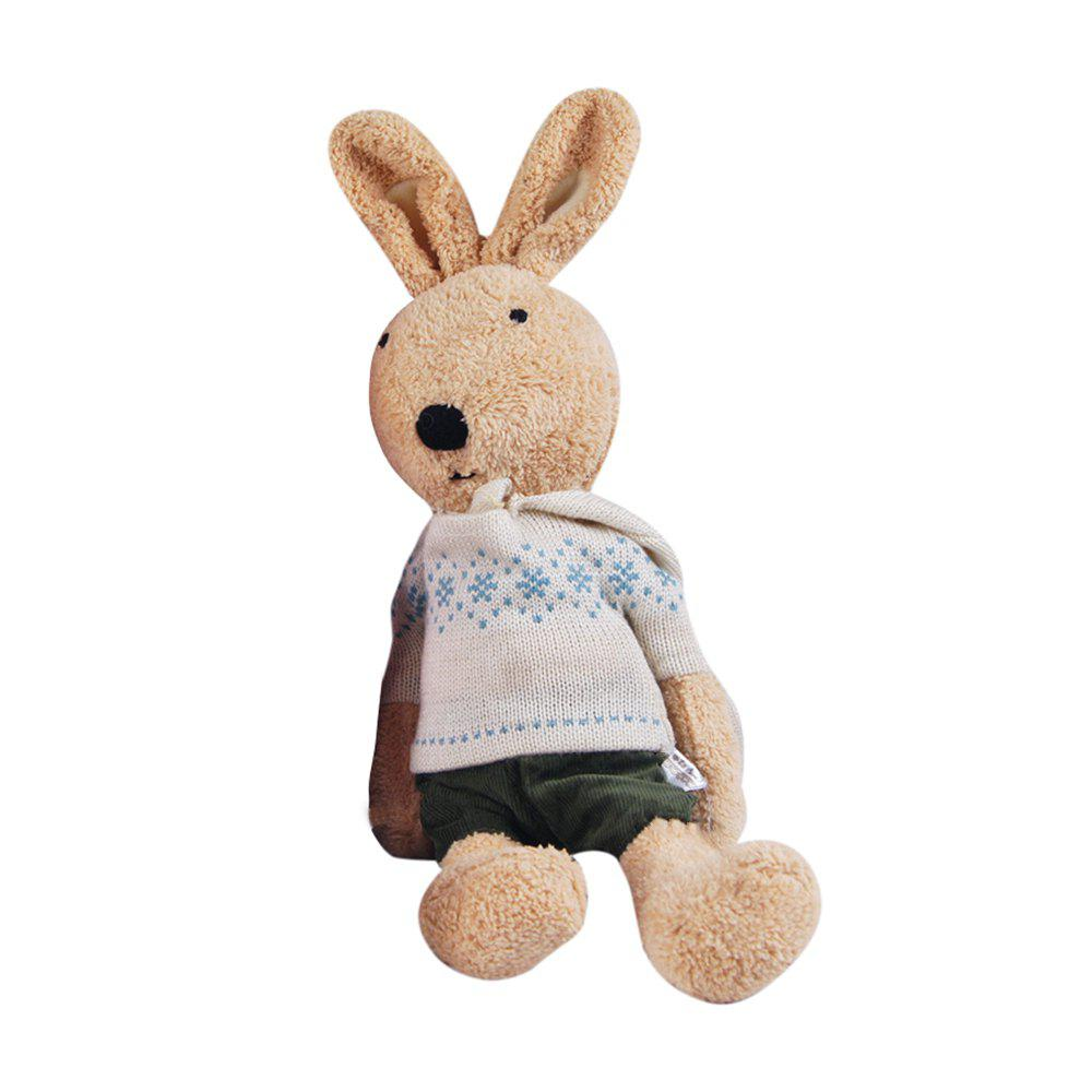 30CM Long Sleeve Sweater Plush Rabbits Doll - BROWN