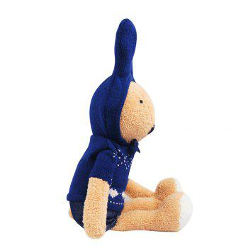 30CM Knitted Sweater Rabbit Plush Toy Doll - BROWN BROWN