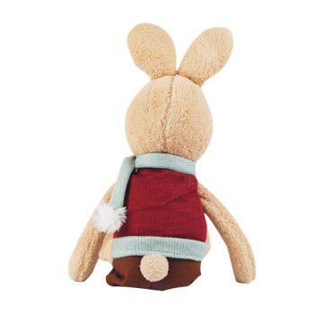 30CM Scarf Vest Baby Rabbit Plush Toy Doll -  BROWN