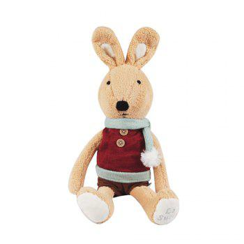 30CM Scarf Vest Baby Rabbit Plush Toy Doll - BROWN BROWN