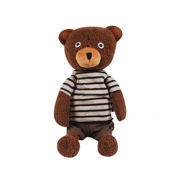 25CM Lovely Granulated Sugar Bear Stuffed Toy Doll - BROWN BROWN