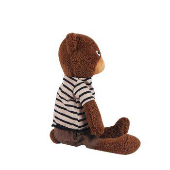 25CM Lovely Granulated Sugar Bear Stuffed Toy Doll -  BROWN