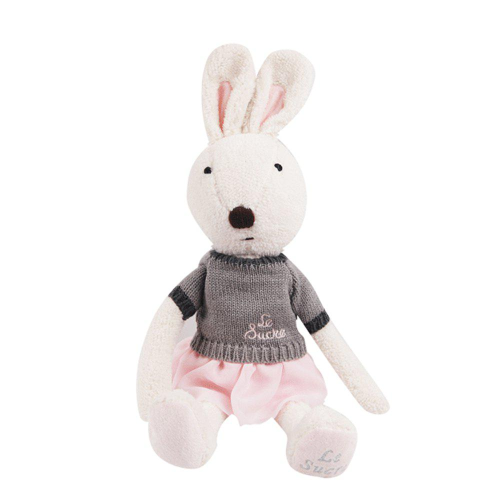 30CM Sweater Short Skirt Rabbit Plush Toy Doll - WHITE