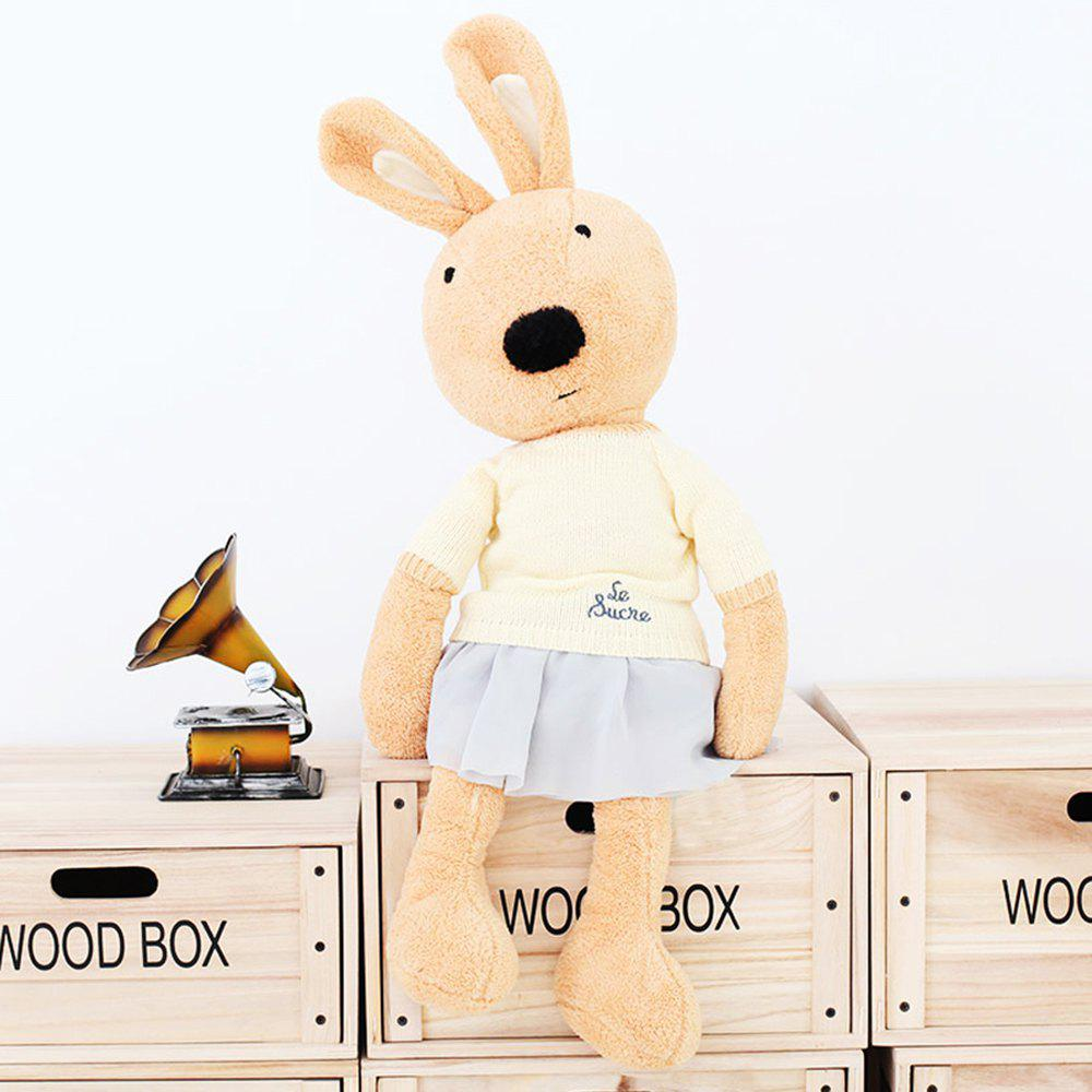 30CM Sweater Short Skirt Rabbit Plush Toy Doll - BROWN