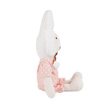 30CM Wave Dot Pajamas Plush Rabbit Doll - WHITE