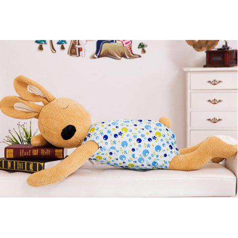 75CM Cute and Simple Sleeping Position Rabbit Doll - DEEP BROWN