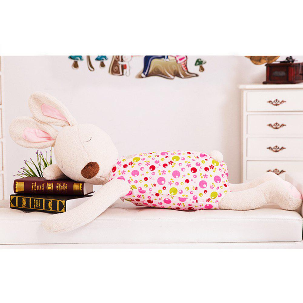 75CM Cute and Simple Sleeping Position Rabbit Doll - DEEP PINK