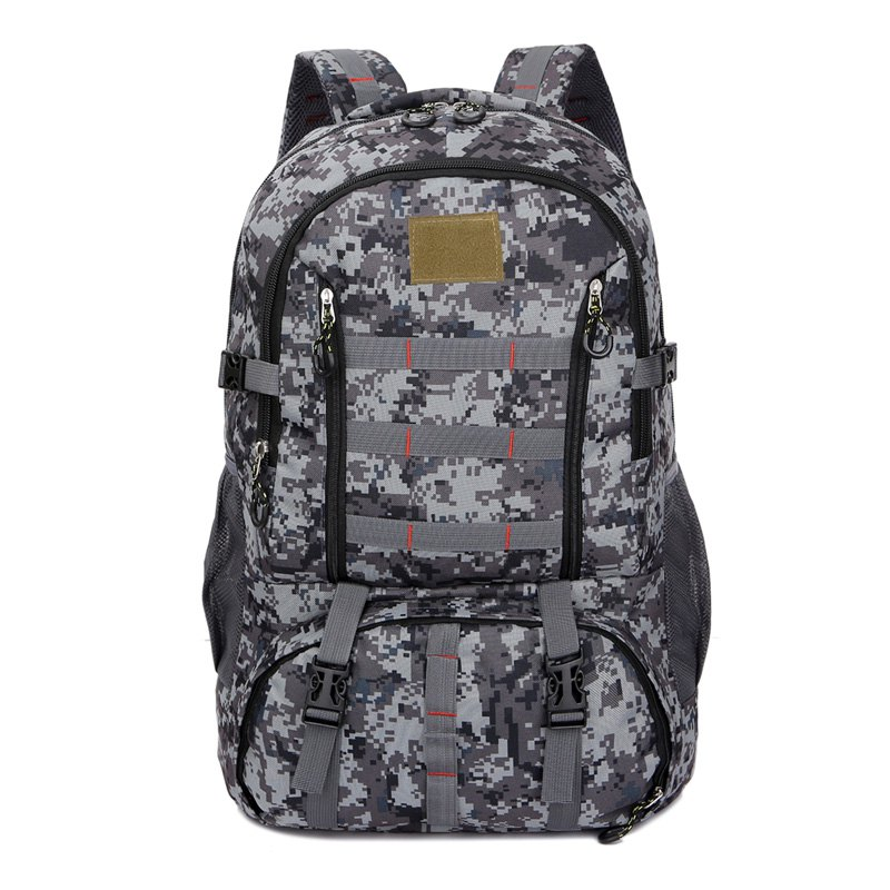 Flamehorse 60l Large Outdoor Camouflage Mountaineer Bag Backpack Camp Field Pack Light Gray
