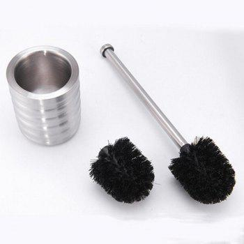 Stainless Steel Toilet Brush Bathroom Cleaning Brush Base WC Cleaning Accessory -  SILVER