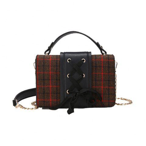 The New Lace Retro Messenger Bag Side Small Package - BLACK