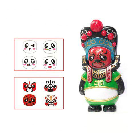 Classical Chinese Sichuan Opera Face The Panda Doll Gifts for Children - GREEN