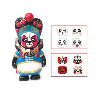 Classical Chinese Sichuan Opera Face The Panda Doll Gifts for Children - BLUE BLUE