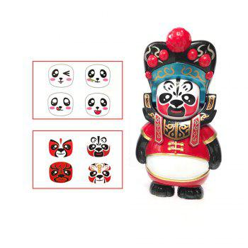 Classical Chinese Sichuan Opera Face The Panda Doll Gifts for Children - RED RED