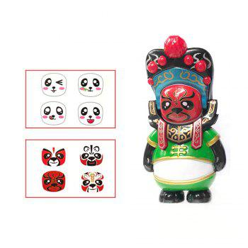Classical Chinese Sichuan Opera Face The Panda Doll Gifts for Children - GREEN GREEN