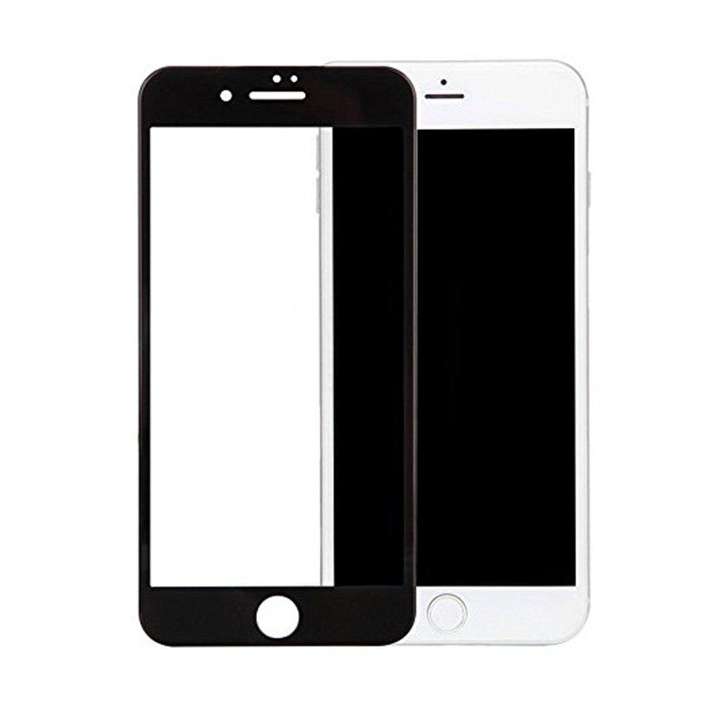 3 D Surface Soft Edges Carbon Fiber Full Screen Mobile Phone Protective Film Toughened Glass Membrane for iphone 8 Plus - BLACK