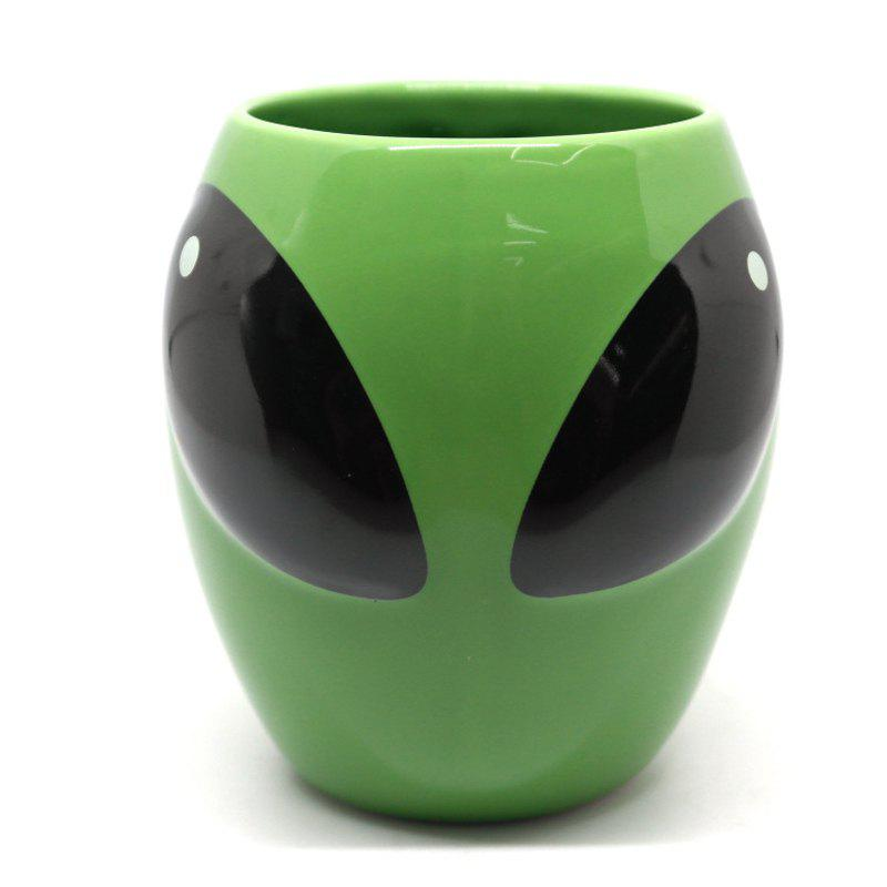 Green Mug Coffee Ceramic Cup Gift Funny Personality - GREEN
