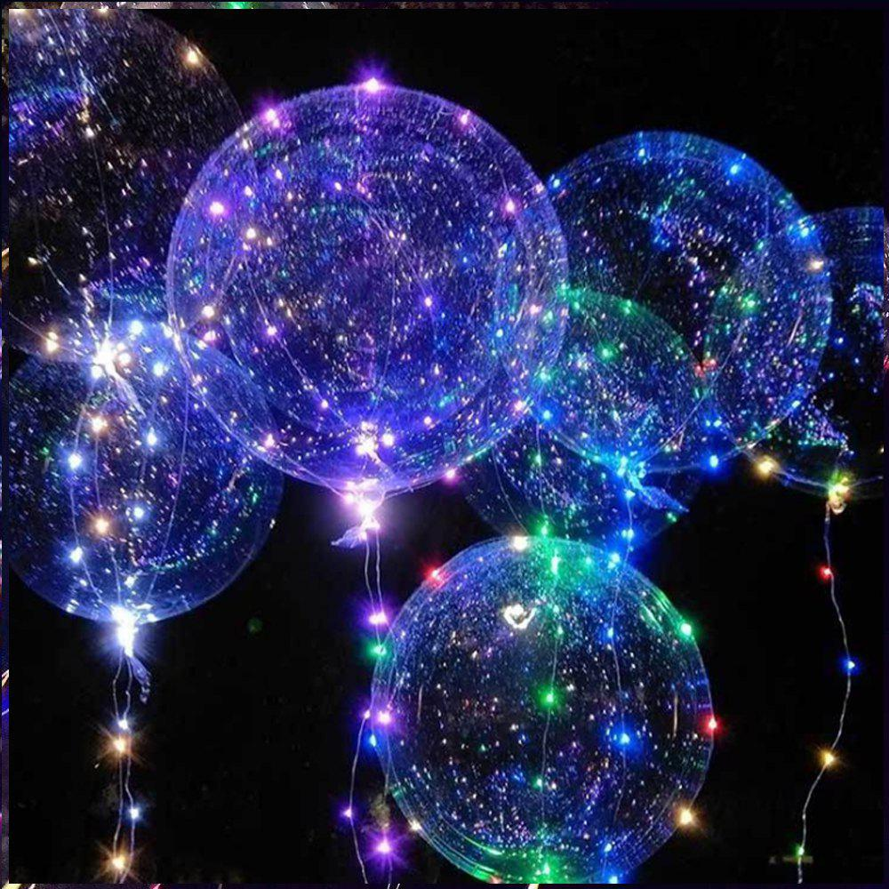 Bobo Balloon LED String Light for Christmas Party Decor - 3 x AA BATTERY POWERED monkey foil balloon auto seal reuse party wedding decor inflatable gift for children