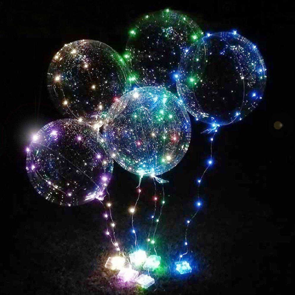Bobo Balloon LED String Light for Christmas Party Decor - 3 x AA BATTERY POWERED - COLORFUL