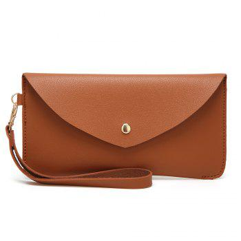 Ladies Casual Wild Long Envelope Handbag - BROWN BROWN