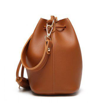 Ladies Classic Wild Tassel Messenger Bag - BROWN