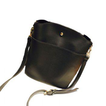 Ladies Classic Wild Simple Bucket Crossbody Bag