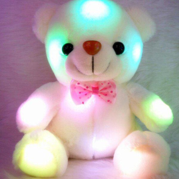 LED Flash Stuffed Plush Bear Soft Doll Toy Home Decor Xmas Birthday Valentine's Gifts fancytrader biggest plush elephant toys giant soft stuffed elephant animals doll 140cm 55inch jumbo gifts for children