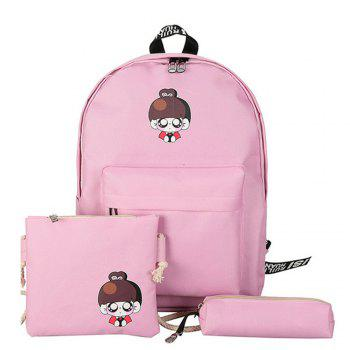 Girl s School Bags Set Cartoon Pattern