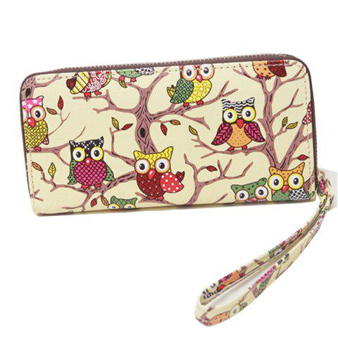 Women's Purse New Groovy Cute Owl Pattern Mini Bag     Women's Purse New Groovy Cute Owl Pattern Mini Bag - YELLOW