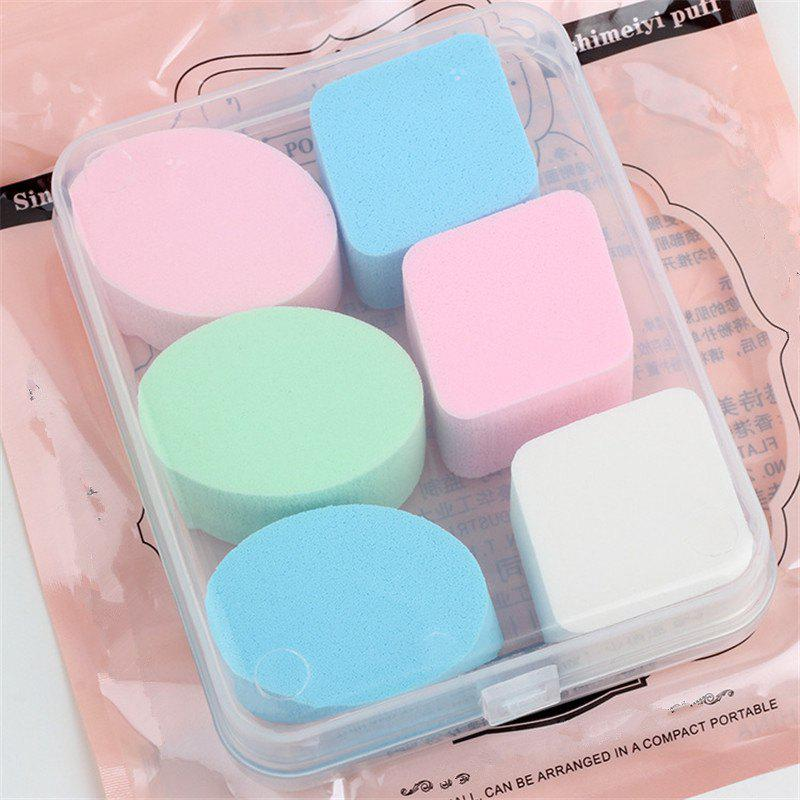KESMALL CO418 BB Cream Powder Sponge Beauty Cosmetic Puff Face Makeup Tools 6Pcs/Box - COLORMIX