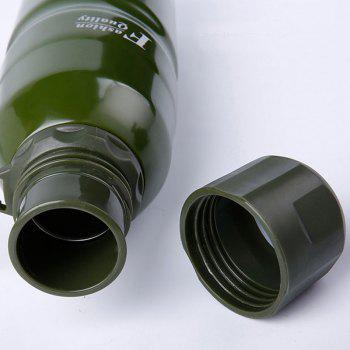 Stainless Steel Outdoor Water Cup Large Thermos - GREEN GREEN