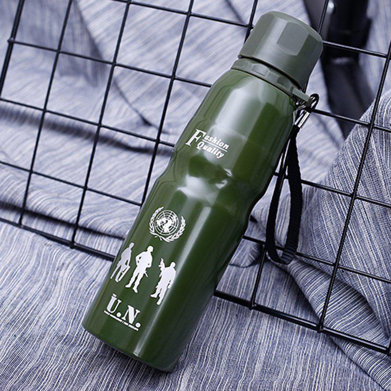Stainless Steel Outdoor Water Cup Large Thermos - GREEN 750ML