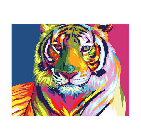 The color tiger prints the diamond - COLORFUL