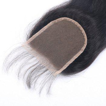 """Silky Straight 100% Human Hair Closure with Baby Hair Bleached Knots Soft Durable Brazilian Virgin Hair Lace Closures 4x4"""" 8-20 Inches - AS THE PICTURE 14 INCHES"""