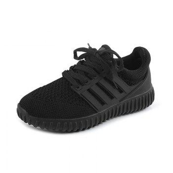 Sneakers Shoes Woman 2016 New Fashion Flat with Breathable Women Shoes Style Mesh Women Casual Shoes - BLACK BLACK