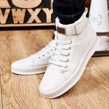 Sport Sneakers Fashion Ankel Boots Hip Hop High Top Boots Hiking Flats pu Leather Boot - RED 6