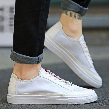 Hommes Casual Mocassins Appartements Slip-on Loisirs Chaussures British Style Oxford Chaussures - Argent 7