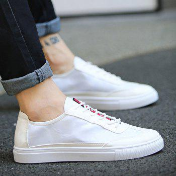 Men Casual Loafers Flats Slip-on Leisure Shoes British Style Oxford Shoes - SILVER SILVER