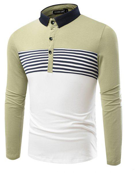 Fashion Cotton Lapel Men'S Long-Sleeved POLO Shirt Men T Shirt - IVY XL
