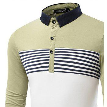 Fashion Cotton Lapel Men'S Long-Sleeved POLO Shirt Men T Shirt - IVY L