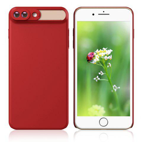 APEXEL APL - IPM10X 10x Macro Lens with Case for iPhone 7 Plus iPhone 8 Plus - RED