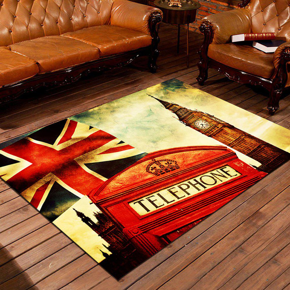 2018 Door Mat Vintage England Style Big Ben Red Telephone