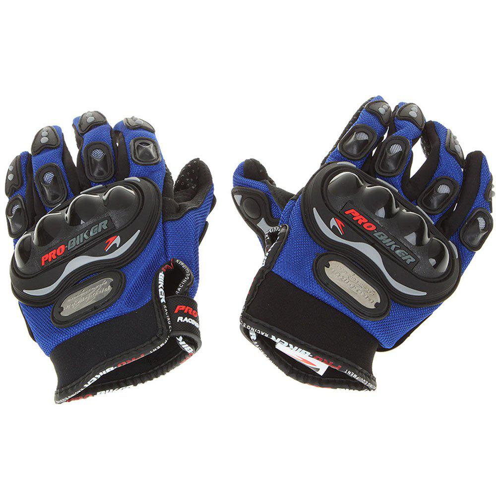 Stylish Full-Finger Racing Gloves - BLACK/BLUE