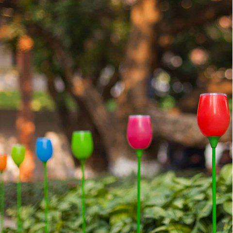 4PCS Outdoor Solar Powered Tulips Lawn LED Bulbs Light For Garden Decoration Yard Pathway Stake Lamp - WHITE LIGHT