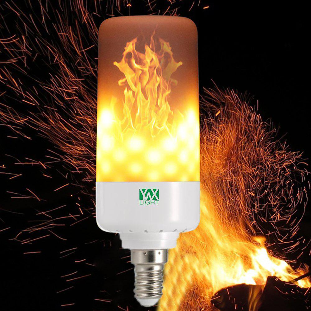 YWXLight LED Light Bulb Leaping Flickering Flame E14 5W AC 85 - 265V led gold deco chandelier bulbs candle light e14 85 265v 5w lamps