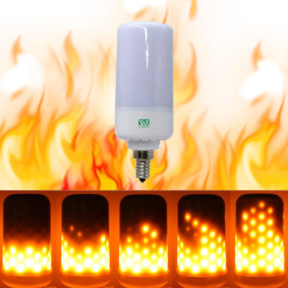 YWXLight E12 LED Flame Effect Fire Light Bulbs Flickering Emulation Flame Lamp AC85-265V - WARM WHITE