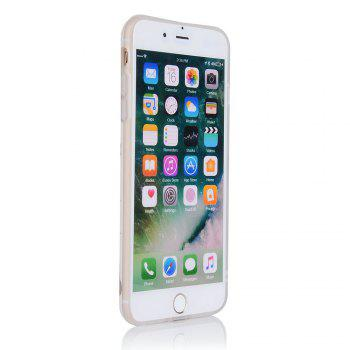 Bronzing Golden Marble Patterned Soft IMD Back Cover Cases for iPhone 7 Plus 8 Plus - WHITE